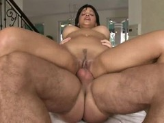 Abella Anderson bounces her pussy on this fast prick