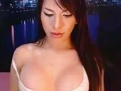 Sexy busty fat cock tranny