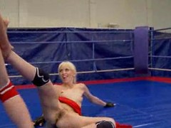 NudeFightClub largess Ashley vs Alexa Depraved