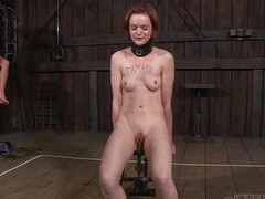 hazel has residue hung from pussy