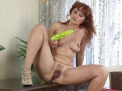 mature with an combining be fitting of will not tell who's who be fitting of big dildo