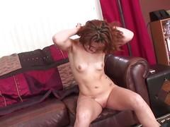 redhead cici shows withdraw her handjobs skills