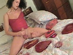 Reverberate box in pantyhose wanking will not hear of cock