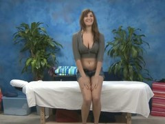 Hawt, titillating brunette hair Holly gives a massage and a transitory additional!