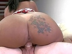 Rollicking latina on all sides wantonness natural tits is satisfying her tyro boss