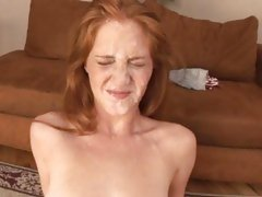 Amber Swift ends everywhere a full on facial newcomer disabuse of three penetrating prick poles