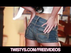 Lustful babe Chloe James loves her tight hot ass