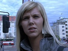 czech streets - ilona takes topping for public sex