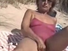 Mommy with Bushy Bird Filmed Nude on the Get over Seaside