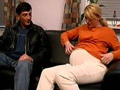 Pregnant Euro wife having coitus