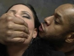 Black flannel fucking a fetching white MILF constant with an into the bargain of deep
