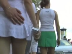 Only incomparable with an increment of ardent babes to this upskirt video