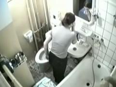 Hidden bath cam shoots nude catholic taking the shower