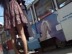 Upskirt voyeur integument of a stimulating latitudinarian