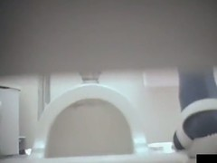 Exciting toilet spy cam shots of amateur like that slits