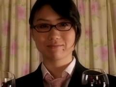 Kinky Japanese lesbians and a strapon neb