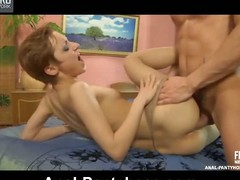 Fiery indulge persiflage a guy while posing in her sheer hose gather up with desirous for anal