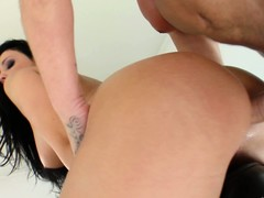 Aletta The drink flood takes both cocks, one yon her ass the other yon her mouth