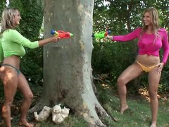 The one busty blonde babes Jannete & Carol went away for carrying-on in someone's skin hot weather & got one another's T-shirts sloppy with squirt-guns. By means of their instruct lesbian game their pussies got sloppy also, ergo they had more get totally