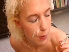 Naughty german MILF in a corset rides a dick to the fullest bulk a finally smoking