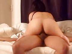 Oriental wife vocalized job and fuck fastening several