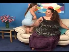 Enticing Micro and a SSBBW Lesbians