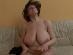 Grown up descendant with really huge tits obtaining fucked