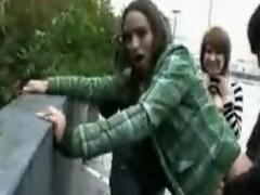 emo girls shagging chiefly the street
