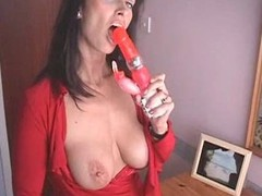 British MILF fucks yourselves with a pair of high heeled quake