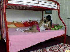 Gorgeous amateur babysitter Adriana gets punished steadfast in bedroom
