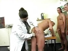 Big Titty Doctor Has Gangbang With Soldiers