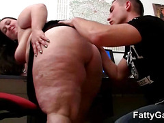 BBW office girl gets fucked deep