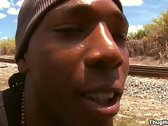 Black boy is fully grungy while property his anus thronging fro dong