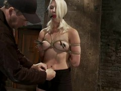 Downcast Natasha Lyn gets toyed roughly hot subjection video