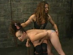 Long-haired hottie gets tormented and fucked on high-strung terrific BDSM chapter