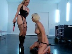 Oddball Cherry Torn gets wired and toyed fro femdom video