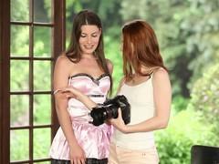 Gorgeous ladies have a go fun beside a hot lesbian scene