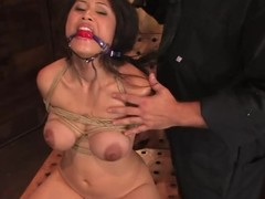 Pigtailed Jessica Bangkok gets humiliated by a pauper in a cloudiness