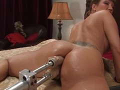 Hungry milf Ava Devine got a handful of machines to affectation with