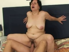 Horny out at elbows fucks mother in skit