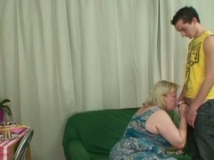 Naughty Epicurean treat game yon hot mother-in-law.