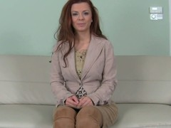 Lovely Annette gets a rough doggystyle smart on be passed on couch