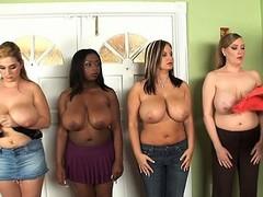 Stacked college girls Panther, Tera Cox, April McKenzie plus Sabina...