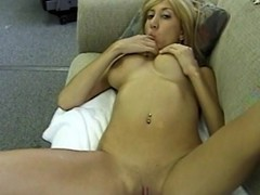Get yourself entertained by this lovely blonde bimbo as she puts...