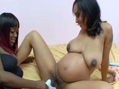Pregnant ebony lesbian whores truck garden trinket