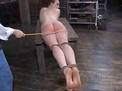 Tasteless whore with bondage is getting her ass cheeks clapped wildly censorious