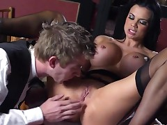 Wondreful brunette American pornstar Danny D copulates wildly