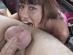 Suhaila in Spanish tits and English big penis - FakeTaxi
