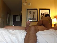 Luna Star rides his weenie in a homemade hotel sex tape